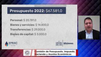 Presupuesto 2022: conexiones a redes de agua potable y más obras de cloacas, prioridades del Eprac