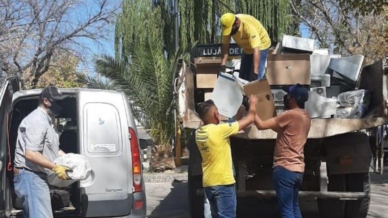 Luján realizó un gran aporte de residuos electrónicos a Reciclarg